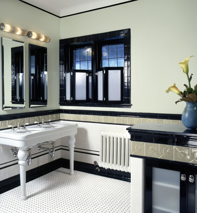 luxury bathroom art deco