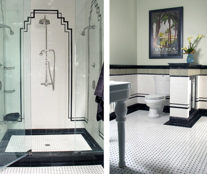 Art Deco Style Bathroom, 2 Views