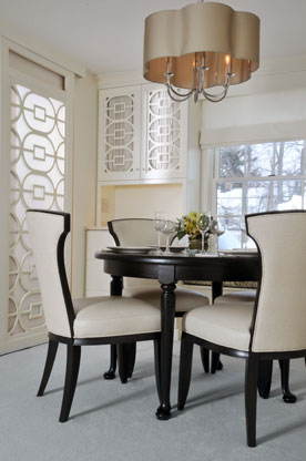 Williamsville, NY - Dining Room with Custom Cabinetry